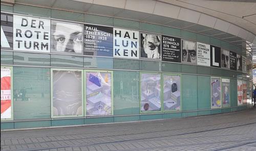 Ab 1. Juli ist die fortlaufenden Plakatserie am Riebeckplatz in Halle am Rondell zu sehen. Foto: Paula Breuer.