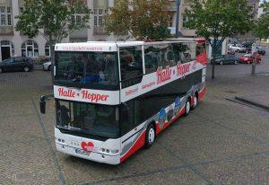 """Der """"Halle-Hopper"""" löst die """"Hallunken-Schunkel"""" ab. Foto: Steffen Schellhorn."""