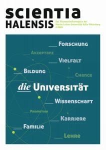"""Cover der neuen Ausgabe der """"scientia halensis"""" Foto: Agentur Kappa GmbH."""