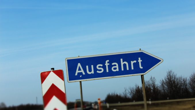 Autobahn Straße Verkehr Schild