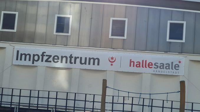 Impfzentrum Halle Corona-Virus