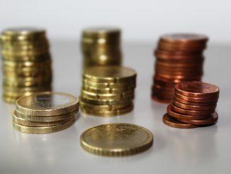 Kleingeld Stapel