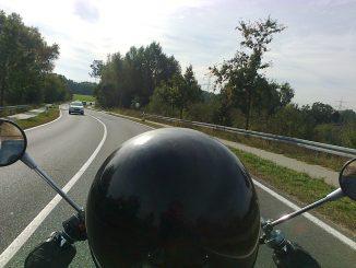 Verkehr Straße Motorrad