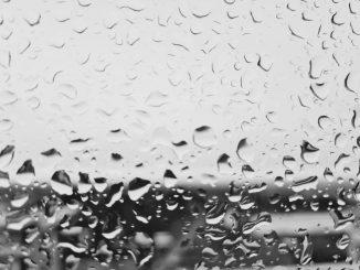 Regen Fensterscheibe