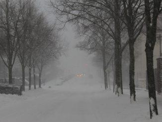 Straße Winter Schnee