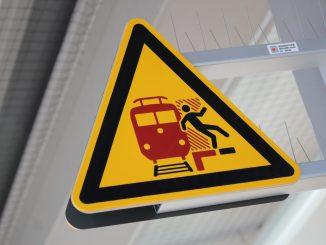Gefahr Bahnsteig
