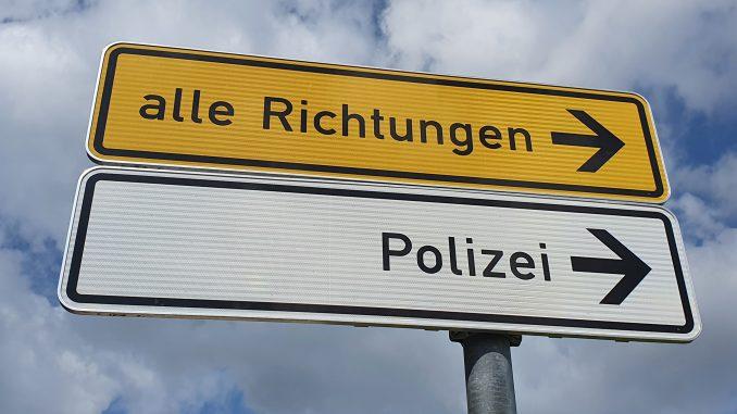 Polizei Wegweiser