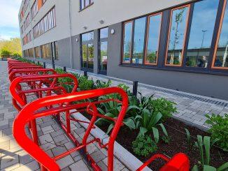 Fahrradständer Schule
