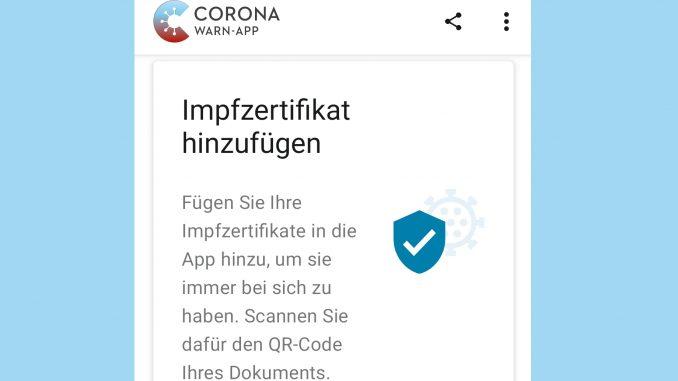 Impfzertifikat Corona-Warn-App