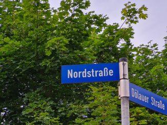Nordstraße Schild